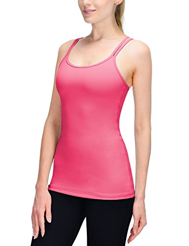 Baleaf Women's Yoga Cami Tank Top Built in Shelf Bra Hot Pink Size S (Hot Pink Long Tank Top compare prices)