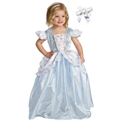 Little Adventures 11152 Cinderella Princess Dress Costume Ages 3-5 with Hair Bow