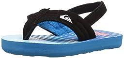 Quiksilver Molokai Layback Strap Sandal (Toddler), Blue/Blue/Blue, 6 M US Toddler