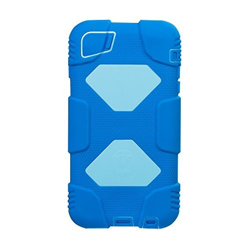 iPhone 6s Plus Case, ACEGUARDER®[Military Heavy Duty] *shockproof* rain resistance anti-dirt Drop absorption Silicone Cover with kickstand for Apple iPhone 6s Plus 5.5Inch (Navy Blue/Light Blue) (Iphone 4 Navy Seals Case compare prices)