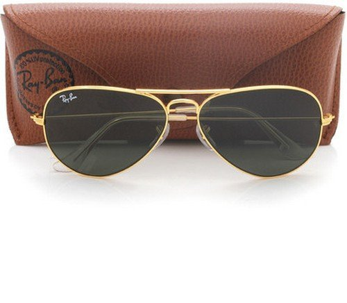 ray ban aviator green gold  Ray-Ban Aviator Sunglasses (Gold) (RB3025 L020558): Amazon.in ...