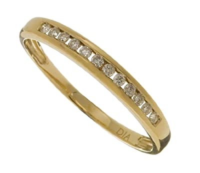 Ariel Ladies 9ct Yellow Gold 10Pts Diamond Eternity Ring