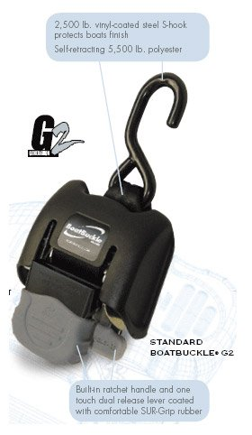 Best Price! Boat Buckle G2 Retractable Transom Tie-Down