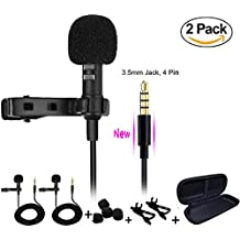 K.King K. King US Upgrade Lapel Lavalier Microphone, Clip-on Microphone Mini Lapel Mic For IPhone, Android, Ipad...