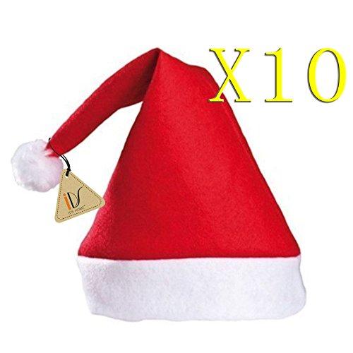 Bulk Santa Hats * Pack of 10