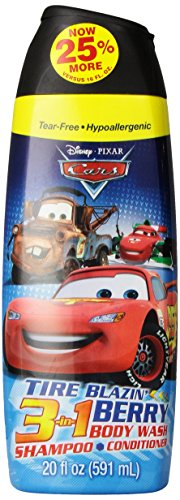 Disney Cars 3 In 1 Body Wash, 20 Ounce - 1
