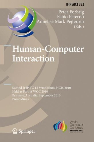 Human-Computer Interaction: Second IFIP TC 13 Symposium, HCIS 2010, Held as Part of WCC 2010, Brisbane, Australia, Septe