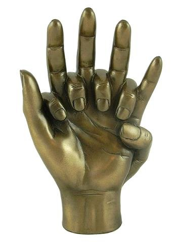 HANDS ENTWINED Bronzed Sculpture, Lovers, Engagement, Wedding or 8th Anniversary