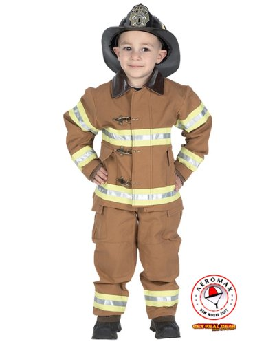 Junior Firefighter Tan Costume for Boy