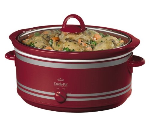 Crock-Pot SCV702 7-Quart Oval Manual Slow Cooker, Red (Crock Pot 7 Qt Lid compare prices)