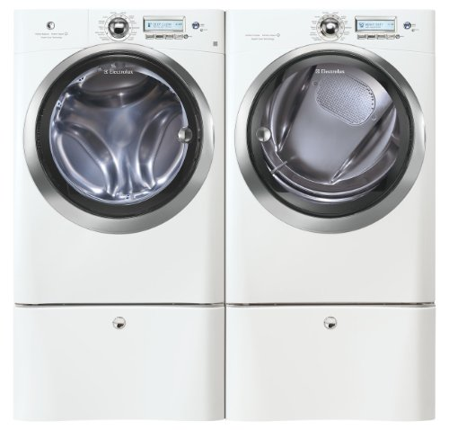 Electrolux Laundry Bundle | Electrolux EWFLS70JIW Washer & Electrolux EWMED70JIW Electric Dryer w/Pedestals - White
