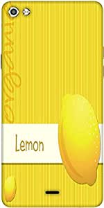 Snoogg Bright Organic Lemon Card In Vector Format Designer Protective Back Case Cover For Micromax Canvas Silver 5 Q450