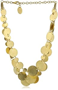 "Zariin ""The Bright Circles"" Layered Gold Coins Necklace"