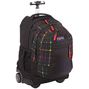 jansport rucksack mit rollen driver 8 black rasta london plaid 36 liters jtn899km. Black Bedroom Furniture Sets. Home Design Ideas