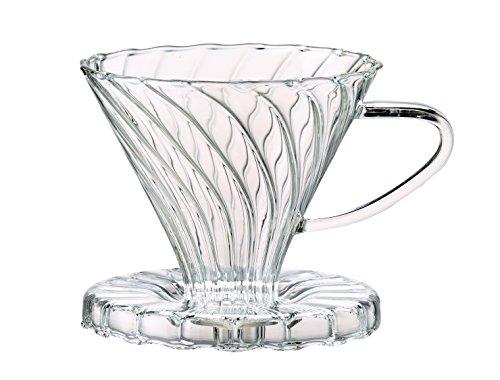 Harold Import société HIC verser sur Filtre à café Cône Verre Borosilicate Numéro 2-taille filtre, Transparent