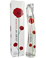 NEW STORY OF FLOWER RED WOMEN PERFUME EAU DE PARFUM NATURAL SPRAY LADIES 50ML