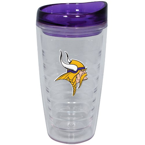 NFL Minnesota Vikings 16-Ounce Slimline Tumbler with Color Lid (Minnesota Cup compare prices)