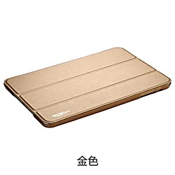 Rock UNI Smart PU Leather Flip Cover Case For Apple iPad Mini 2 3 Retina - Gold
