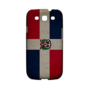 Grunge Dominican Republic Geeks Designer Line Flag Series Slim Hard Case for Samsung Galaxy S3