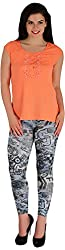 Holidae Women's Poly Crepe Lace Detailed Top (HI-TP-BL-089_S, Coral, S)