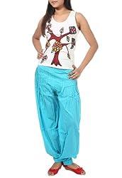 Rajrang Womens Cotton Harem Bottom,Turquoise ,40
