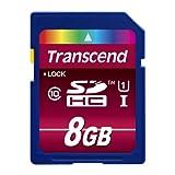"""Transcend Ultimate-Speed SDHC Class 10 UHS-1 8GB Speicherkarte (bis 85MB/s Lesen) [Amazon Frustfreie Verpackung]von """"Transcend"""""""