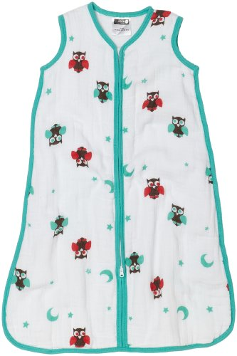 Pinzon Baby By aden + anais Cotton Muslin Winter Warmth Sleeping Bag, Night Owl, Medium