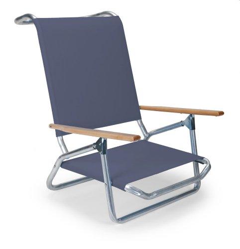 Telescope Casual Light and Easy Low Boy Folding Beach Arm Chair, Navy