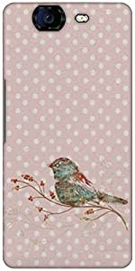 Snoogg Bird Grunge Designer Protective Back Case Cover For Micromax Canvas Kn...