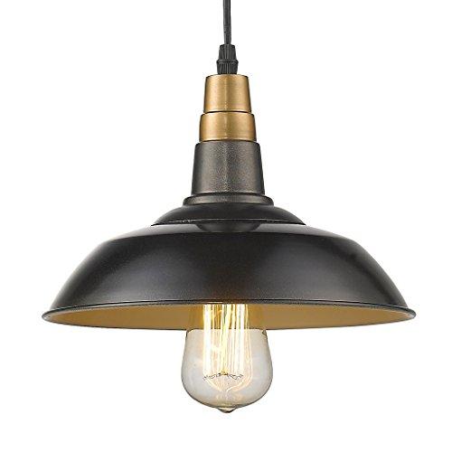 YOBO Lighting Antique Industrial Metal Hanging 1-light Lodge Kitchen Bar Pendant Light