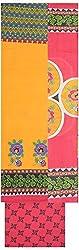 Shrumani Global Women's Cotton Unstitched Dress Material (SG013, Orange & Pink)