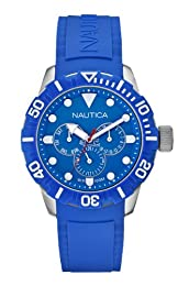 Nautica BFD 102 Men's Quartz Watch with Dial Analogue Display and  Leather Strap A13614G