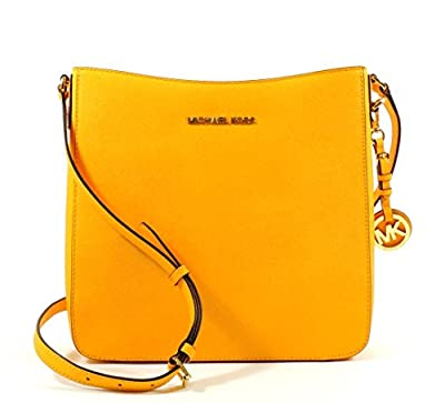 MICHAEL Michael Kors Jet Set Travel Saffiano Leather Large Messenger (Vintage Yellow)