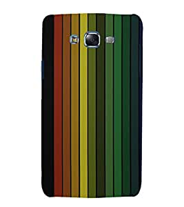 printtech Colored Lines Streaks Back Case Cover for Samsung Galaxy A3 /Samsung Galaxy A3 A300F