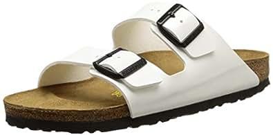Birkenstock Arizona, Women's Sandals, White (Vernis Blanc), 2 UK