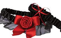 Hortense B. Hewitt Wedding Accessories Midnight Rose Garter Set
