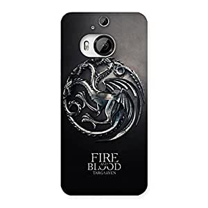 Ajay Enterprises Blood Fire Emb Back Case Cover for HTC One M9 Plus