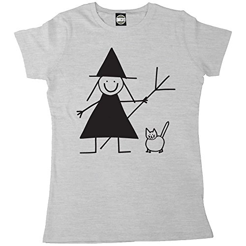 Batch1 Women's Halloween Cute Witch And Cat Printed T-Shirt