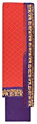 Sanskriti Women's Cotton Unstitched Dress Material (Pink and Purple)