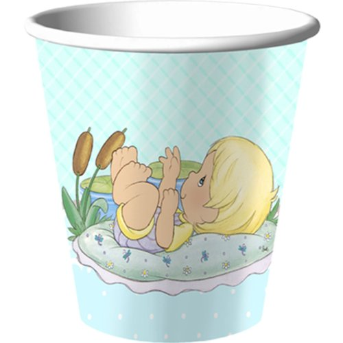 Precious Moments 'Baby Boy' Paper Cups (8ct) by Hallmark - 1