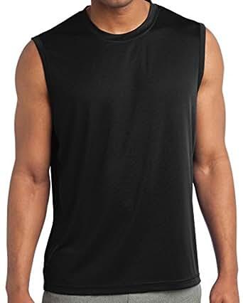 Yoga clothing for you mens sleeveless moisture for Moisture wicking dress shirts