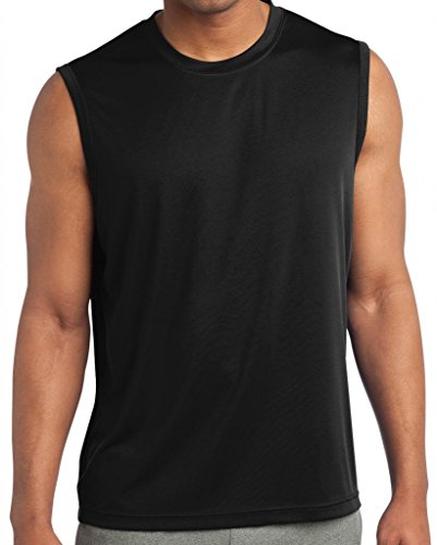 Yoga Clothing For You Mens Sleeveless Moisture Wicking Black Tee yoga for transformation