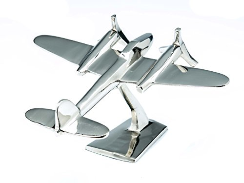 Model aeroplane - mini aircraft in Art Deco style - nickel-plated aluminium