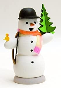Snowman with Christmas Tree German Incense Smoker by Kuhnert