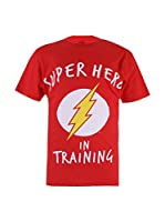 DC COMICS Camiseta Manga Corta Flash Training (Rojo)
