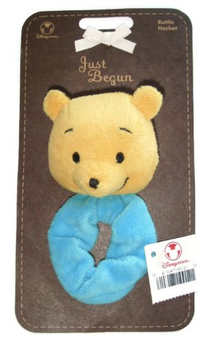Disney Store Just Begun Winnie the Pooh Wrist Rattle Flat Plush - 1