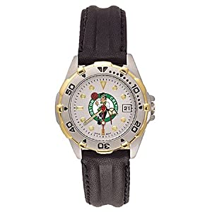 NSNSW21904P-Ladies Leather Boston Celtics All Star Watch by NBA Officially Licensed