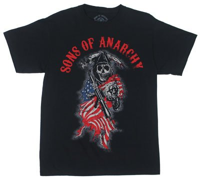 Reaper Flag - Sons Of Anachy T-shirt: Adult XL - Black