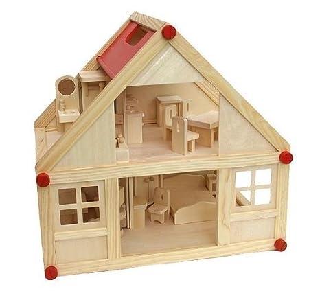 Freda Maison de poupées + Meubles de poupées Set de Meubles 28 Pieces + Housses