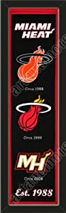 Heritage Banner Of Miami Heat-Framed Awesome & Beautiful-Must For A Championship... by Art and More, Davenport, IA